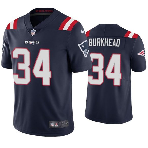 Patriots Rex Burkhead Navy Jersey